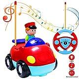 Joylink Voiture Radiocommandé, RC Camion de Jouet Cartoon R / C Voiture de Course de Contrôle pour Les Bébés et Les Enfants (Red)