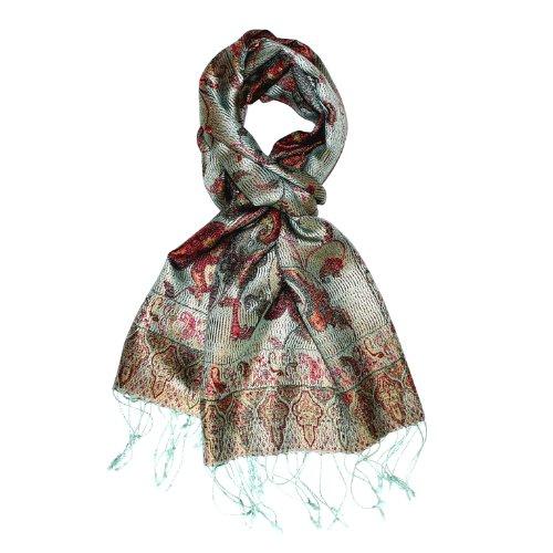 Lorenzo Cana Luxus Seidenschal für Männer Schal 100% Seide gewebt Herrenschal elegant Paisley Muster Mehrfarbig 780921177 -