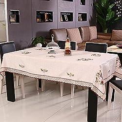 ZB Pastoral de cuadros mantel hecho a mano cinta bordado mantel té cubierta toalla , 40*150cm gift