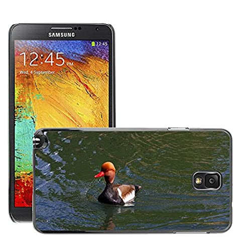 Just Phone Cover Hard plastica indietro Case Custodie Cover pelle protettiva Per // M00139732 Pochard Red Headed Pochard Canard // Samsung Galaxy Note 3 III N9000 N9002 N9005