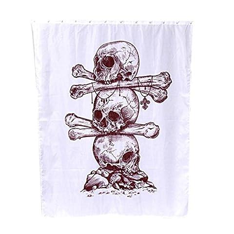 Transer® Custom Cool Skull Duschvorhang mit Haken, wasserdicht, Weihnachten Home Decor NEW Badezimmer 152,4x 182,9cm, Polyester, B, 180*150cm/72*60