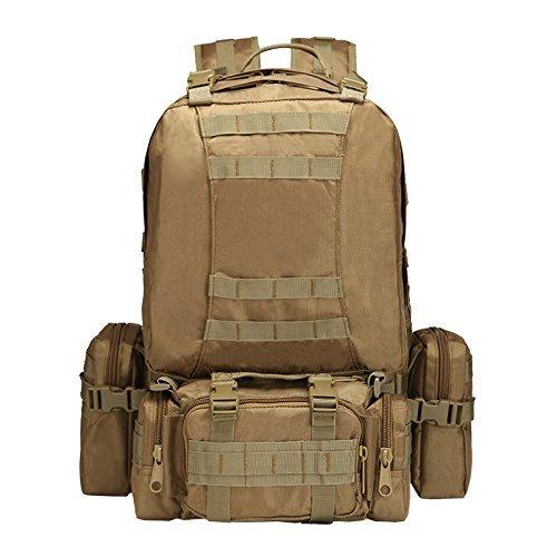 Imagen de impermeable grande militar army patrol molle assault pack táctica combat   bolsa para senderismo camping, 60l, canela