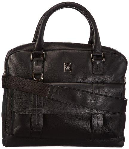 Bogner Leather Sac bandoulière LAPTOPBAG S,  - Nero (Noir - Schwarz (black 001)), 1232121 Nero (Noir - Schwarz (black 001))
