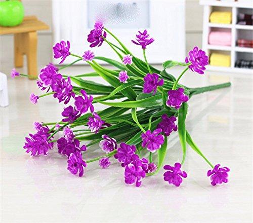 Meili flower parete indoor emulazione pacchetto fiori fiori di seta swing di fiore in fiore in plastica decorazioni parete cesto fiorito set regalo in salotto, blue g