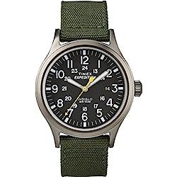 Timex - Homme - T49961 - Expedition - Quartz Analogique - Noir - Vert - Nylon