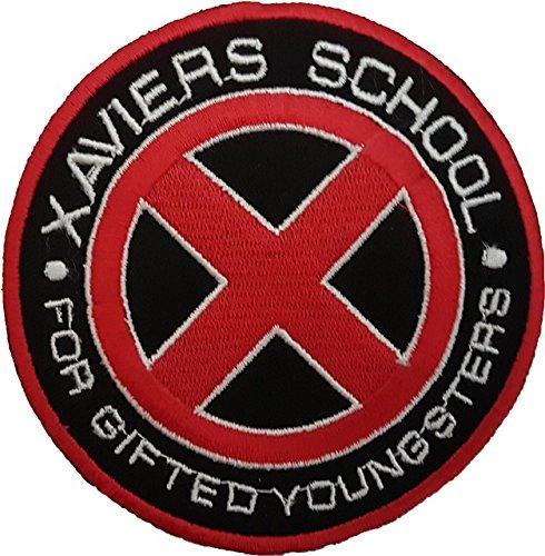 x-men-xavier-s-school-rosso-logo-patch-10-cm-da-cucire-o-termoadesivo