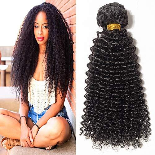 Extension capelli veri tessitura ricci umani matassa kinky curly 10
