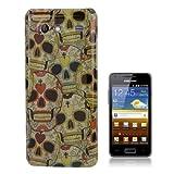 Cover Case Custodia Plastica Rigida Per Samsung Galaxy S Advance I9070 Teschio Skull