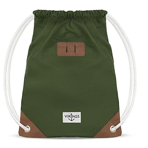 97ed257d3c Gym Bag Sack Sacca da ginnastica cotone Sport Donne Uomini Bambini, Farbe  Turnbeutel:Verde