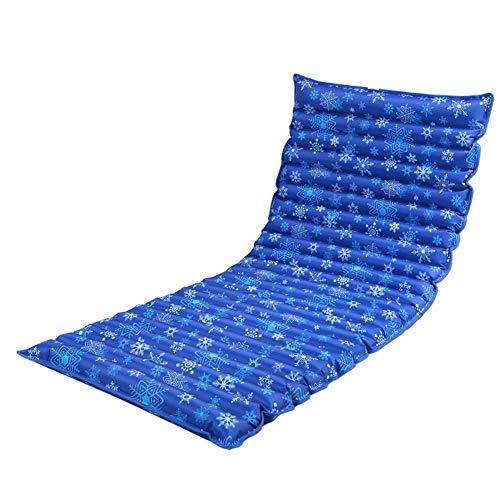 Tradtrust Aufblasbar Kissen, Faltbar Außen Wasser Matratze Pad Wasser Wohnheim Bett Matte (160x50cm/180x75cm/190x75cm) - 180cmx75cmdark Blue Snowflake -