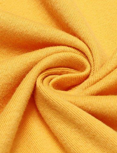 Damen Strickjacke Basic Jacke Strickmantel Cardigan Herbst Winter Offene Feinstrickjacke Classic Langarm Kragenlos Outwear in 7 Farben Gelb