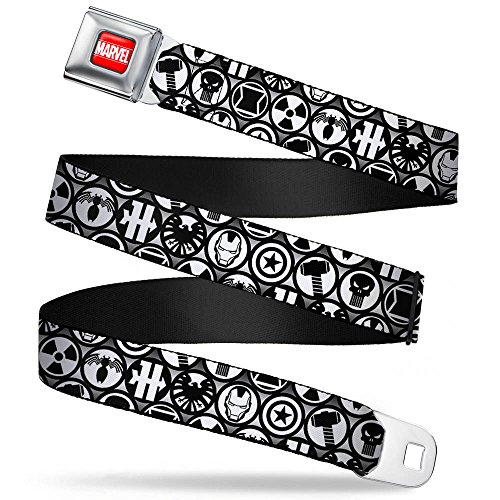 Avengers Marvel Comics Superheroes Emblems Assembled Seatbelt Belt