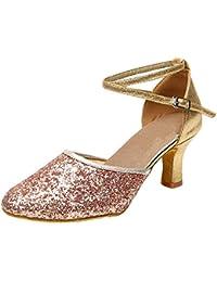 misu - Zapatillas de danza para mujer Rosa rosa, color Rosa, talla 38.5