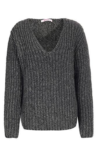 bloom Pullover mit Wolle und Alpaka 38, Grau
