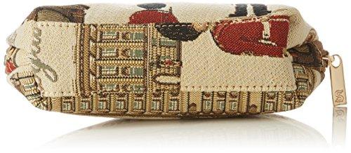 Borsa donna di Signare per il trucco in tessuto stile arazzo alla moda vari disegni Guardie reali
