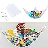 Spielzeug Aufbewahrung Net, Spielzeug Hängematten Faltbare Organisieren Halterung Aufbewahrung Mesh Ultralight Große Eck-Hängematte für Spielzeug Plüschtiere, Stofftiere, weich Spielzeug