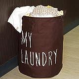 Krishyam Brown Round Folding My Laundry Laundry Bag/Basket/Bin