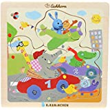 Kikaninchen 109465958 - Einlegepuzzle, 4-sortiert, bunt