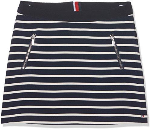 Tommy Hilfiger Mädchen Rock Ame BI Stripe Skirt, Blau (Navy Blazer 431), 10 Jahre (Herstellergröße: 10) (Röcke Hilfiger Tommy)