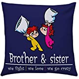 Giftsbymeeta Crazy Brother Sister Cushion RAKHIGIFTS8501- Cushion with filler:12x12 inches