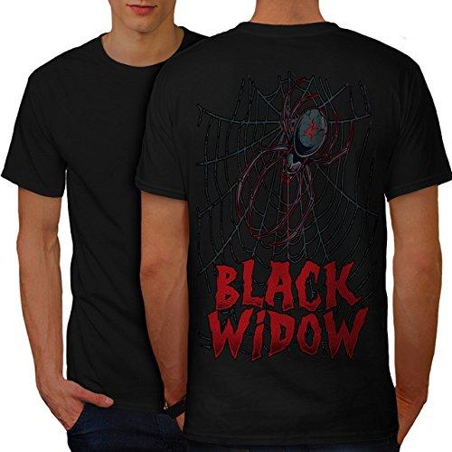 Angst Das Netz Herren M T-shirt Zurück | Wellcoda (Schwarze Witwe-puppe)