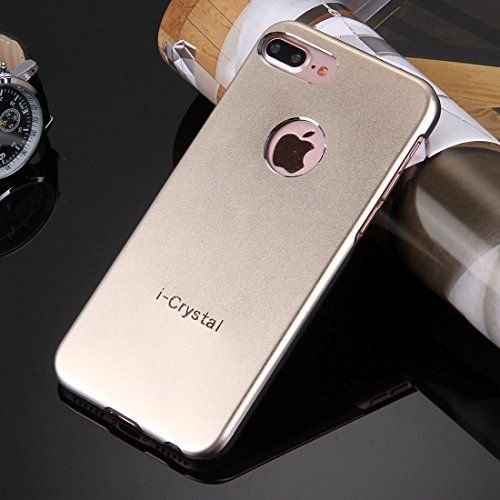 Hülle für iPhone 7 plus , Schutzhülle Für iPhone 7 Plus Metall Schutzmaßnahmen zurück Fall ,hülle für iPhone 7 plus , case for iphone 7 plus ( Color : Rose Gold ) Gold