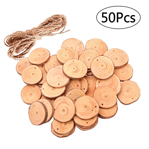 ROSENICE Madera rebanadas 4-5CM madera troncos troncos