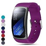 Feskio Für Samsung Gear Fit2 Pro / Fit2 SM-R360 Ersatzarmband Band, Weich Silikonarmband Riemen Sportband Armband Gurt für Samsung Gear Fit2 Pro und Fit 2 SM-R360 Smartwatch