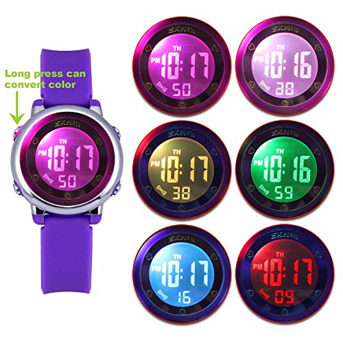 zeiger-kids-digital-watches-sports-watch-for-girls-boys-lovely-student-purple-watch-with-waterproof-