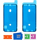 MMOBIEL 2X Pegatina Adhesiva pre-Cortada Impermeable Compatible con iPhone X - 5.8 pulg. Marco LCD