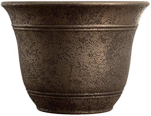 """The HC Companies Listo SRA07501P02 Sierra Pflanzgefäß, nordisches Bronze, 19 cm breit 7.5\"""" Keltische Bronze"""