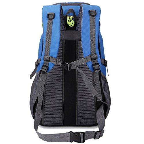 arrampicata All'aperto multifunzione Sport Escursionismo Viaggio Le spalle Campeggio Impermeabile Zaino (Nero) Rosso