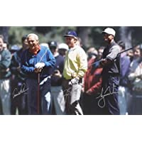 Arnold Palmer firmato, Gary Player and Tiger Woods riproduzione Foto Poster 40x 30cm