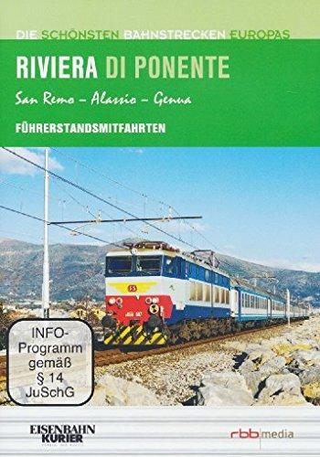 Preisvergleich Produktbild Riviera di Ponenete - Führerstandsmitfahrten - San Remo/Alassio/Genua - Die schönsten Bahnstrecken Europas