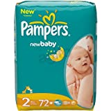 Pampers New Baby T2 Couches Pack Economique 1 Mois de Consommation x 288 Couches Taille 2 (3-6 kg)