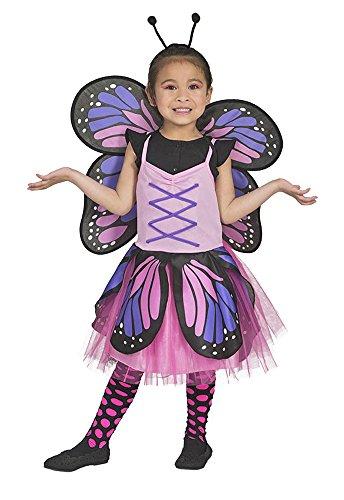 Schmetterling Belle Kostüm für Mädchen - Pink 3-5 - Rosa Belle Kostüm