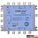 DUR-line MS 5/8 Blue eco - Stromspar Multischalter SAT für 8 Teilnehmer/TV - kein Netzteil notwendig - 0 Watt Standby Multiswitch [Digital, HDTV, FullHD, 4K, UHD]