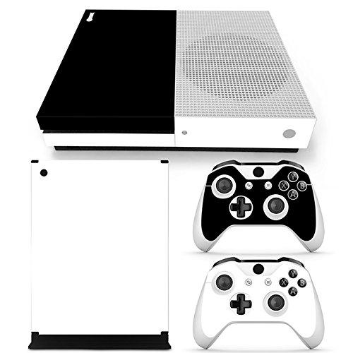 Xbox ONE S Designfolie für Konsole + 2 Controller + Kamera Sticker Skin Set - Black & White Black And White Kamera