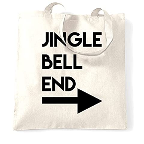 Jingle Bell End Printed Slogan Zitat Design Premium-Qualität Tragetasche