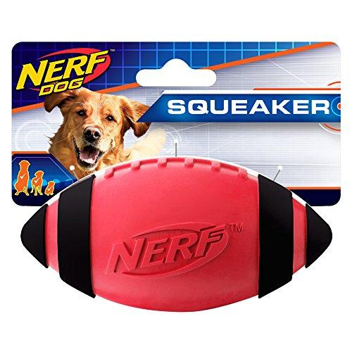 Nerf Dog Quietschen Gummi Fußball Hundespielzeug, Einzeln, 5