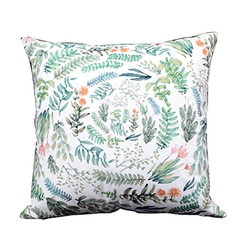 Sansee Simple Print Sofa Bed Home Decoration Festival Pillow Case Cushion Cover 18 18    N   Leaves B
