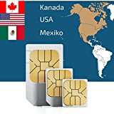 travSIM SIM Karte für Nord Amerika, USA, Kanada. Mexiko mit 100MB für 7 Tage - Prepaid Daten SIM- Standard,Micro, Nano SIM