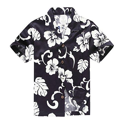 Camisa-hawaiana-de-Aloha-Luau-del-muchacho-Solamente-en-hibisco-de-la-marina-de-guerra-16-Aos