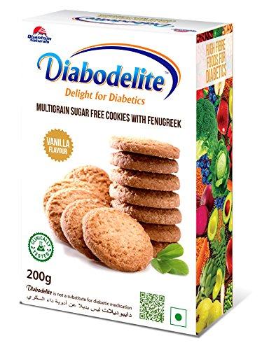 Diabodelite Multi-Grain Sugar Free Cookies-200 Gram (Vanilla Flavour) 51f Kn0 CfL