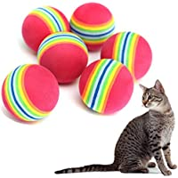 Doitsa Bola de Juguete para Gato y Perro Pelota Multicolor Juguetes para Animales domésticos Juguetes Pelotas de Colores para de Animales de cmpagnie, Goma EVA, 10 Unidades, 3.5cm