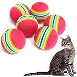 Zedtom Katzenspielzeug Rainbow Ball, Durchmesser 35MM - 10STK