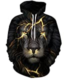 Unisex Jungen 3D Druck Kapuzenpullover Tops Fashion Hoodie Pullover Hooded Sweatshirt(Small/Medium,Leo Licht)
