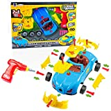 Kinder Montage Spielzeug Auto für kleine Mechaniker - Super Spaß beim zusammenbauen und schrauben - mit kleine Hände geeignetem Akkuschrauber