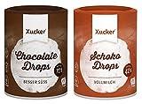 Xucker - 2er Schoko-Probierset - Vollmilch und zartbitter Schokodrops