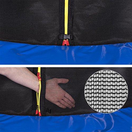 Kinetic Sports Gartentrampolin inkl. Sicherheitsnetz 183 bis 490cm Größenauswahl – Intertek GS zertifiziert - 5